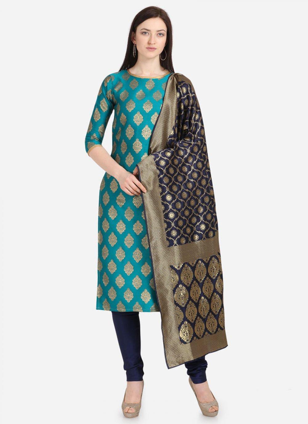 Jacquard Weaving Churidar Salwar Kameez