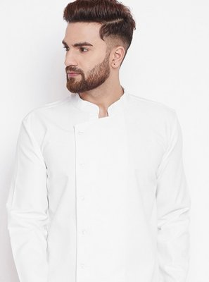 Kurta Plain Cotton in White