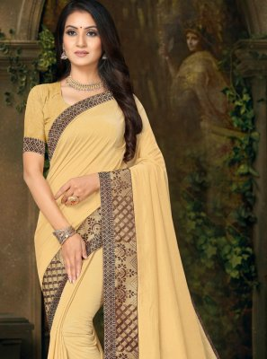 Lace Cream Classic Saree