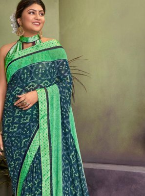 Lace Georgette Classic Saree