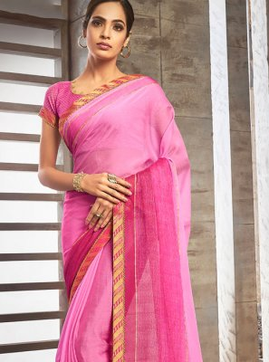 Lace Pure Chiffon Shaded Saree