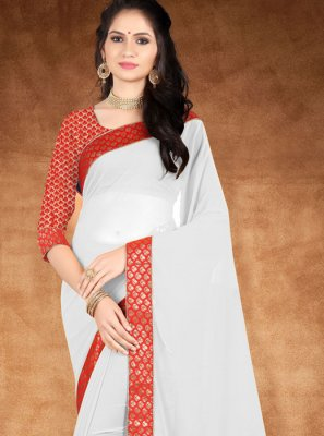 Lace Silk Saree