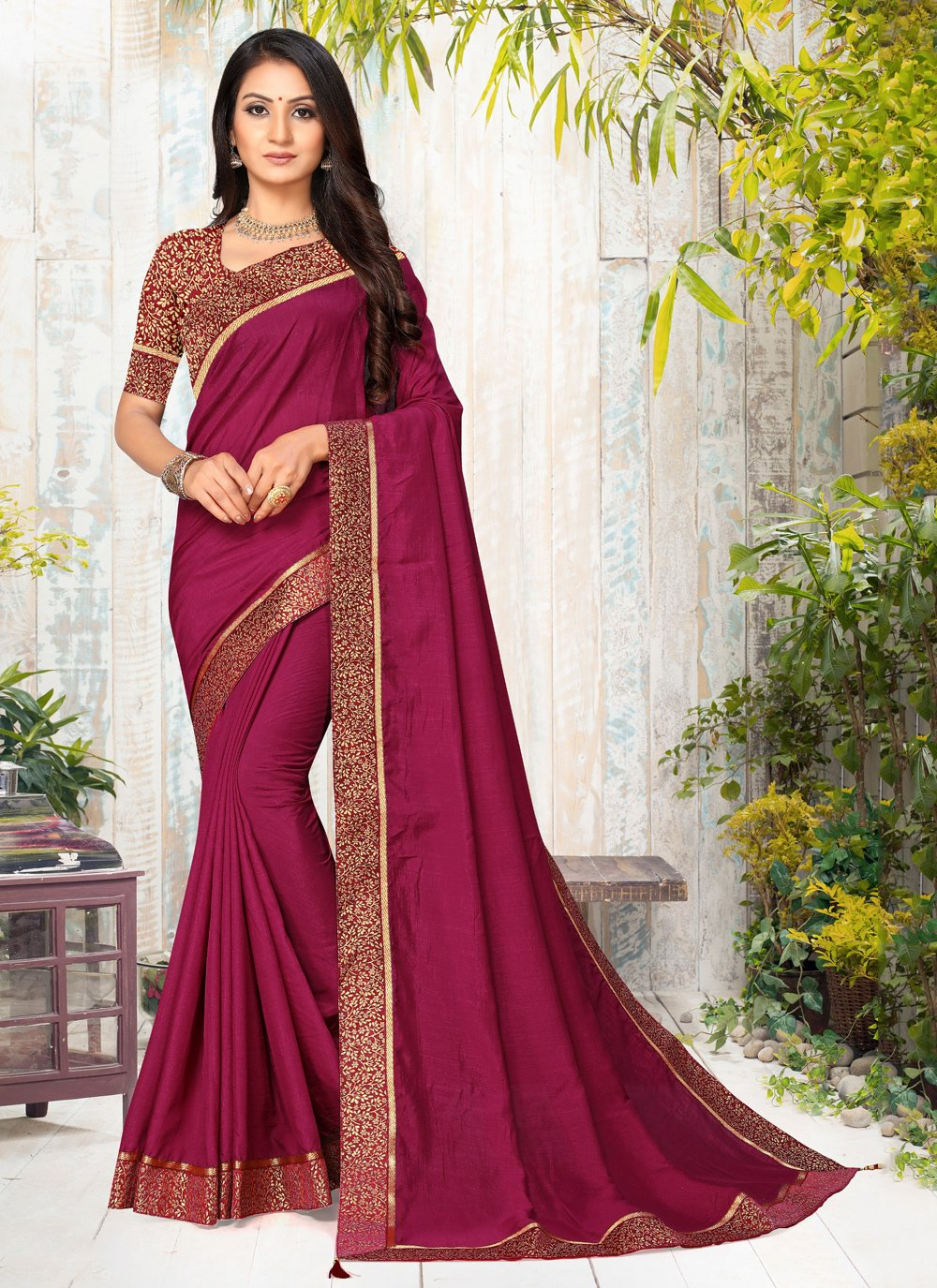 Lace Silk Trendy Saree
