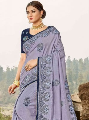 Lavender Ceremonial Trendy Saree