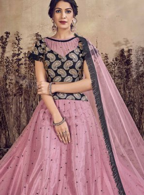 Lavender Color A Line Lehenga Choli
