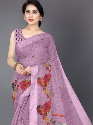 Lavender Color Casual Saree