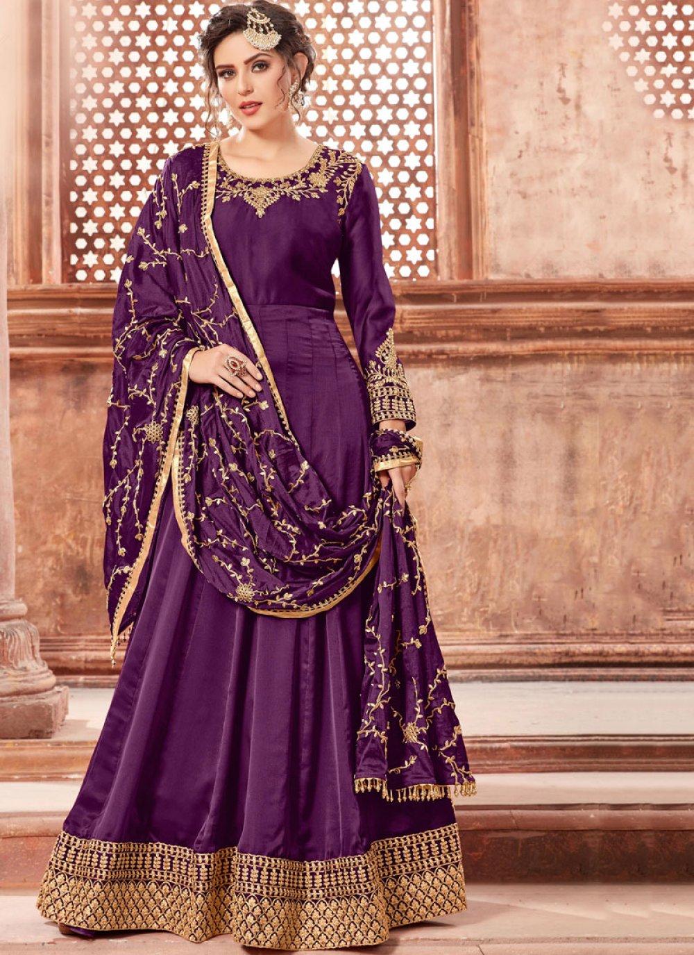 Lavender Festival Trendy Anarkali Salwar Suit