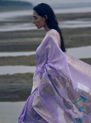 Lavender Party Classic Saree