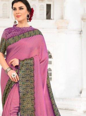 Lavender Silk Saree