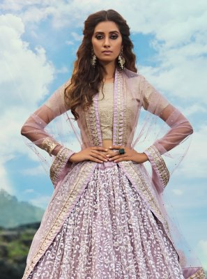 Lavender Thread Trendy Designer Lehenga Choli