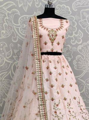 Lehenga Choli Diamond Silk in Pink