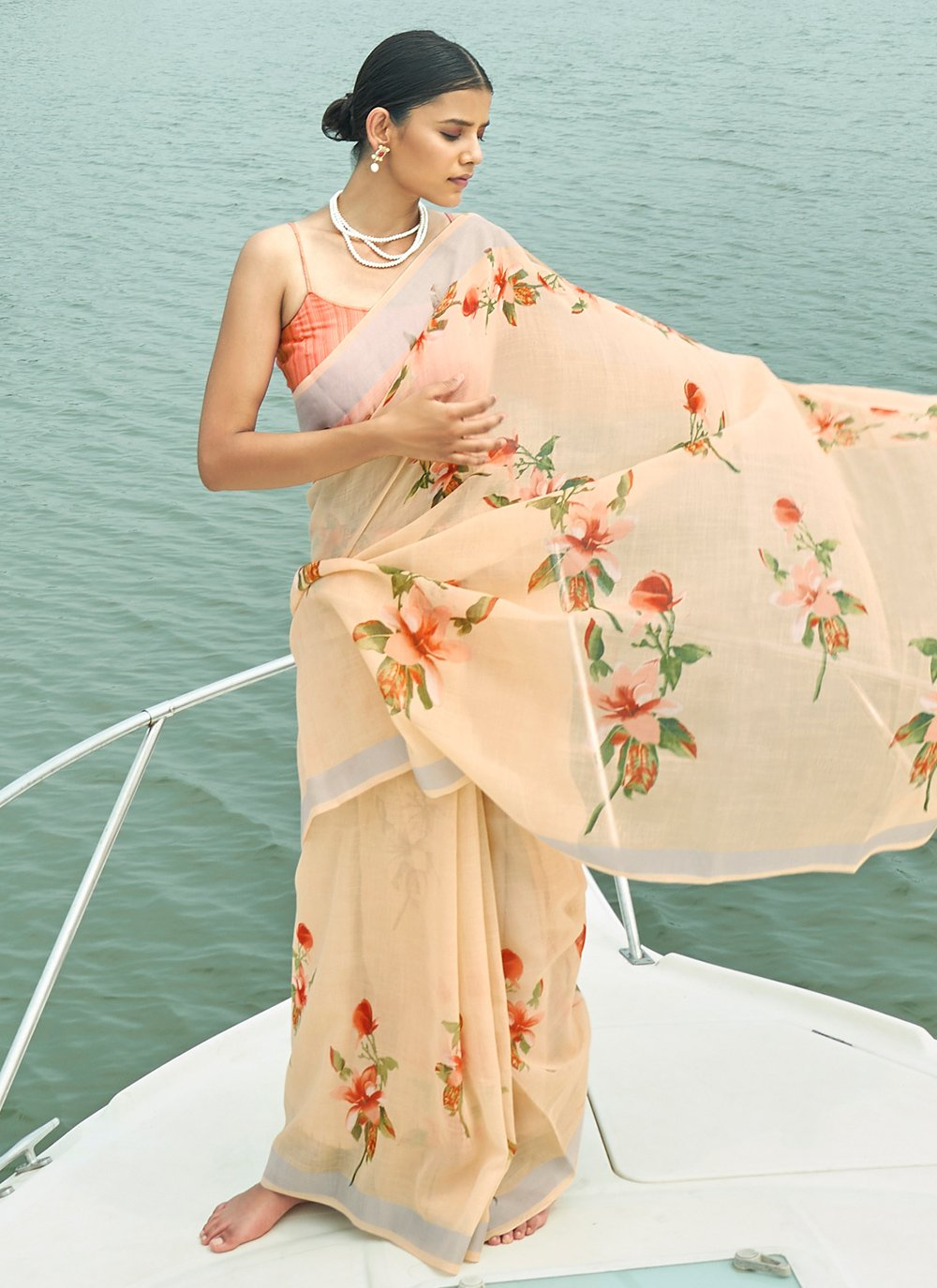 Linen Bollywood Saree