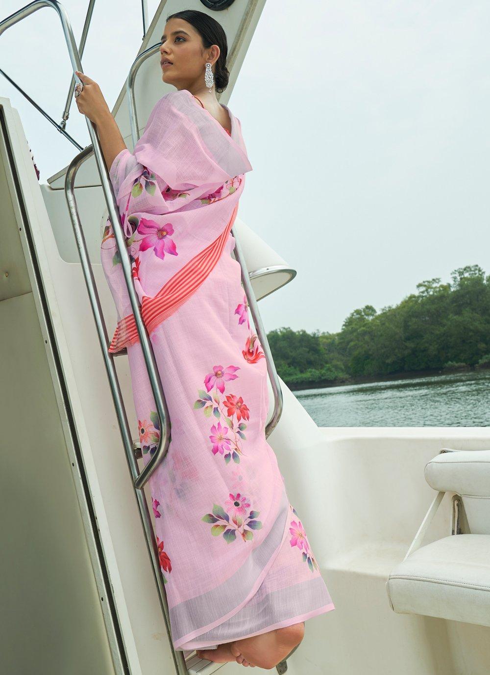 Linen Party Contemporary Saree