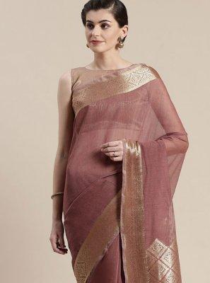 Linen Woven Classic Designer Saree