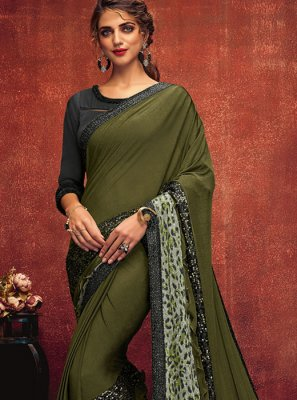 Lycra Ceremonial Designer Saree