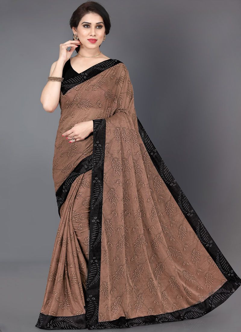 Lycra Designer Saree