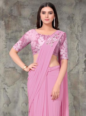 Lycra Embroidered Trendy Saree