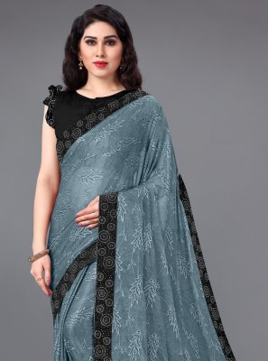 Lycra Lace Casual Saree