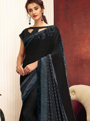 Lycra Reception Designer Saree
