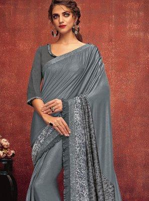 Lycra Sangeet Designer Saree