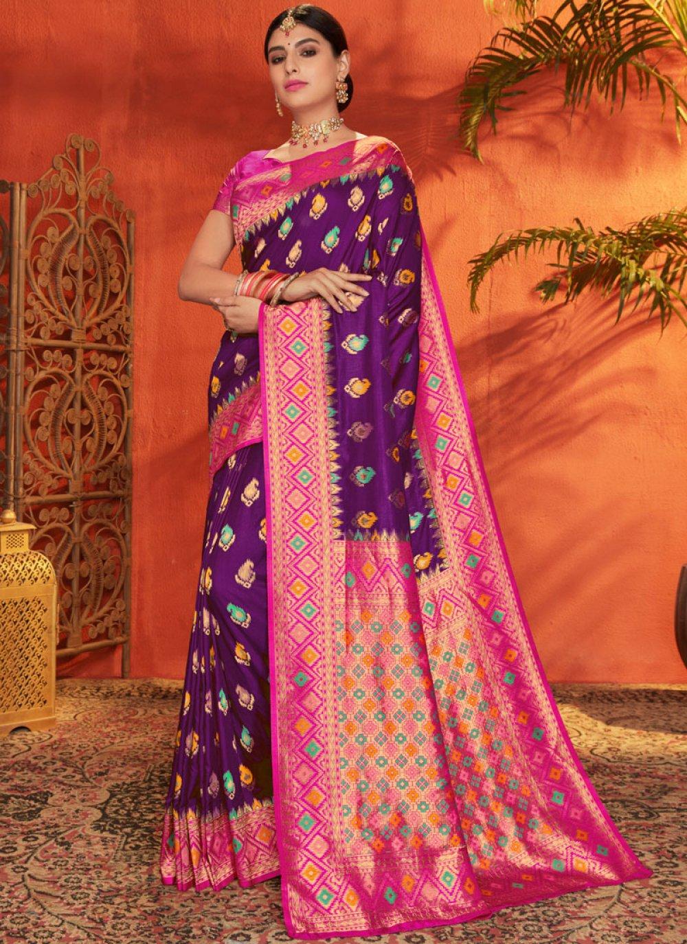 Magenta and Purple Festival Classic Saree
