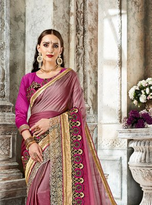 Magenta Art Silk Designer Saree