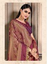 Magenta Bollywood Saree