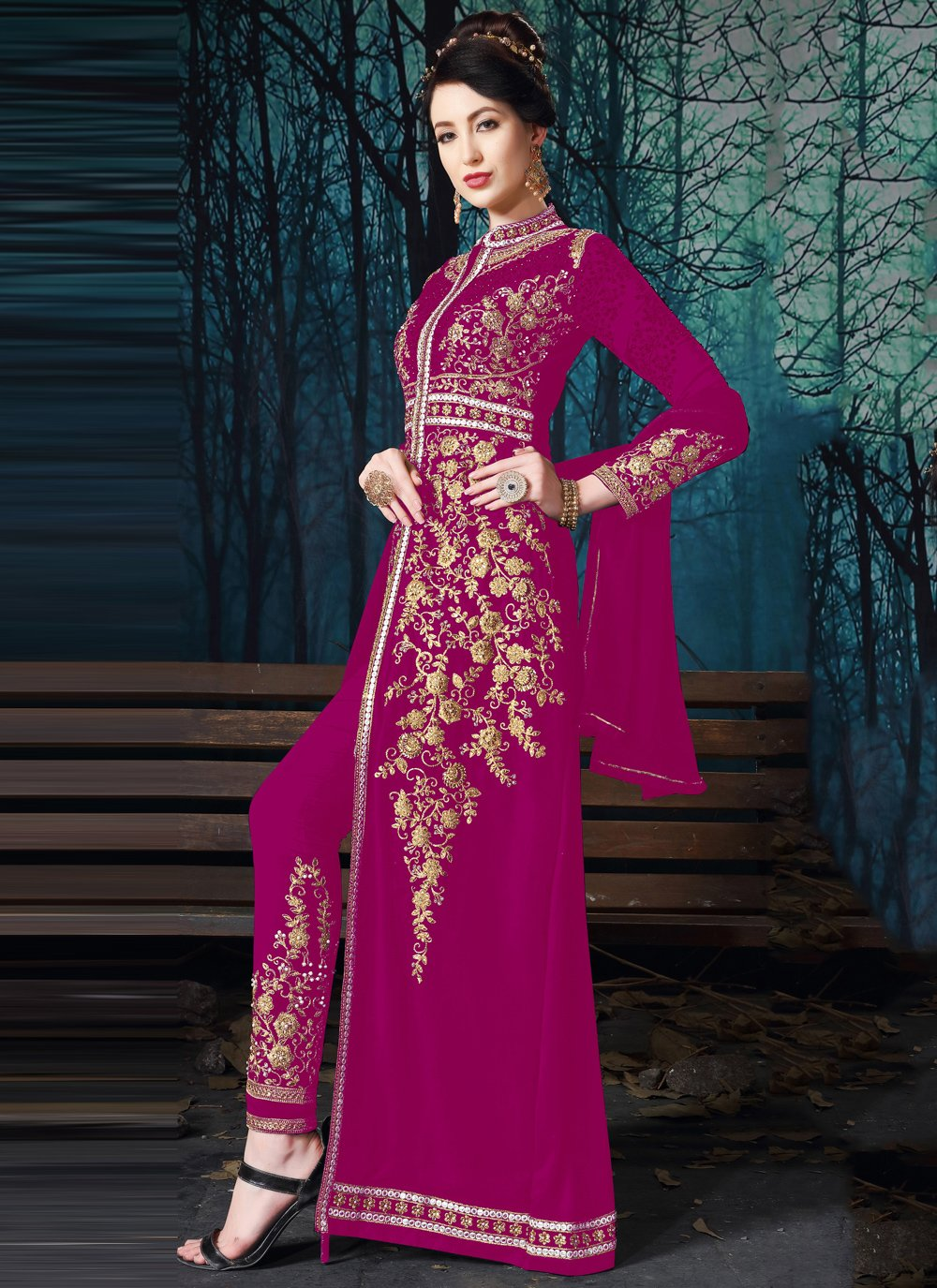 Magenta Color Salwar Suit