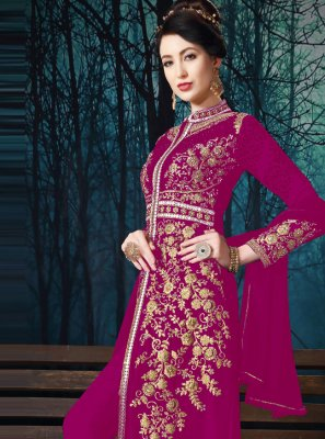 Magenta Color Salwar Suit