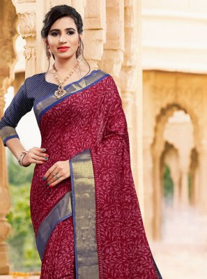Magenta Contemporary Saree