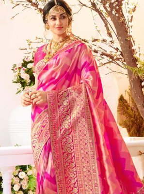 Magenta Reception Traditional Saree