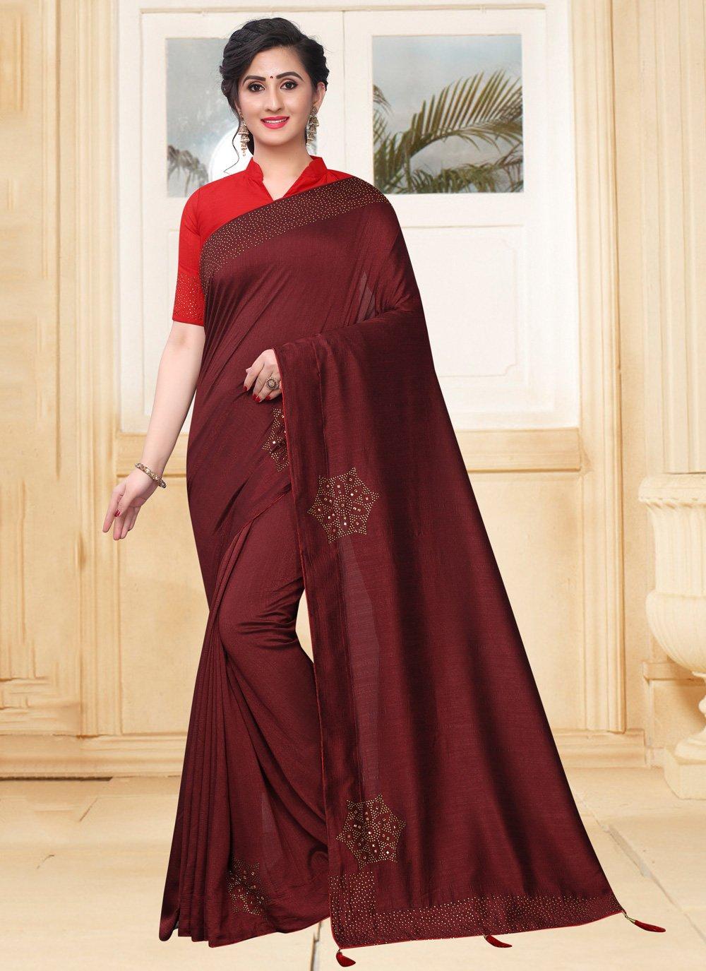 Magenta Silk Classic Saree