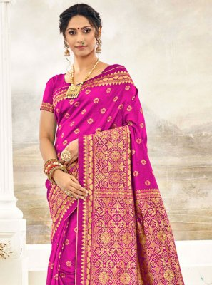 Magenta Silk Trendy Saree