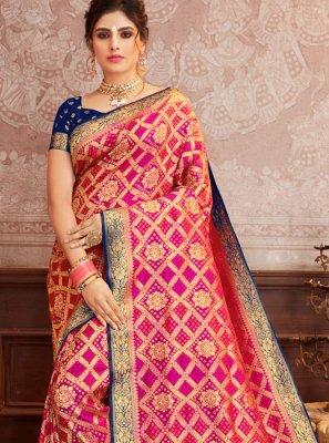 Magenta Weaving Silk Designer Traditional Saree