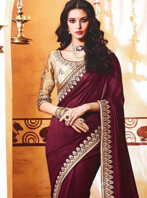 Magenta Wedding Bollywood Saree