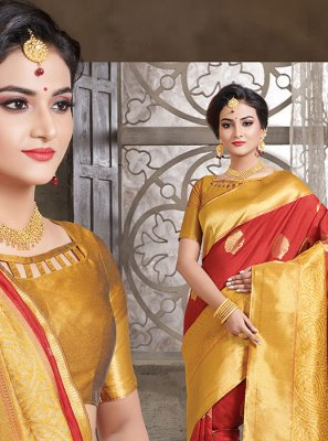 Maroon Art Silk Festival Traditional Designer Saree