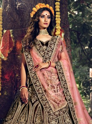 Maroon Bollywood Lehenga Choli