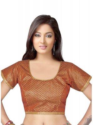Maroon Brocade Mehndi Designer Blouse