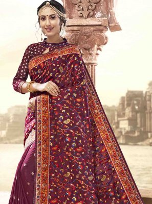 Maroon Ceremonial Saree