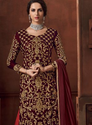 Maroon Color Designer Lehenga Choli