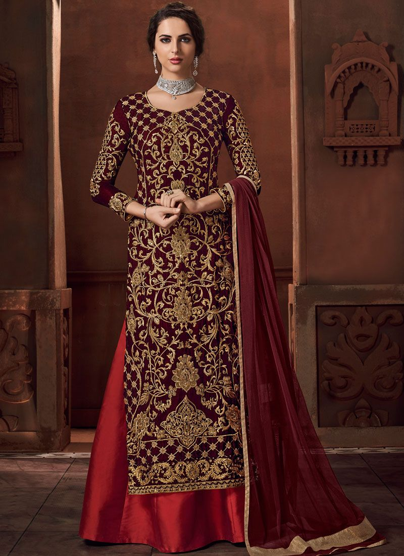 Maroon Color Designer Lehenga Choli
