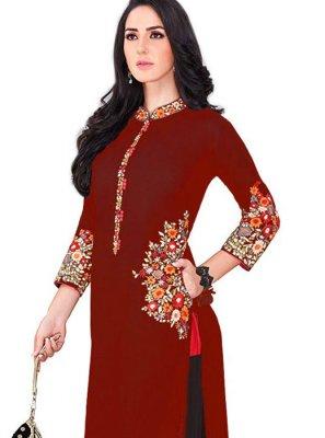 Maroon Color Salwar Kameez