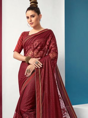 Maroon Fancy Classic Saree