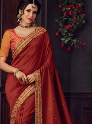 Maroon Festival Traditional Saree