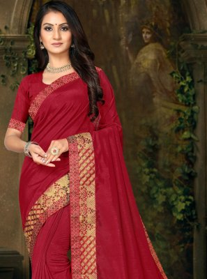 Maroon Lace Party Trendy Saree