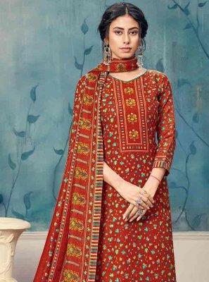 Maroon Pashmina Trendy Palazzo Suit