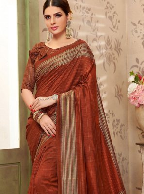 Maroon Print Traditional Saree