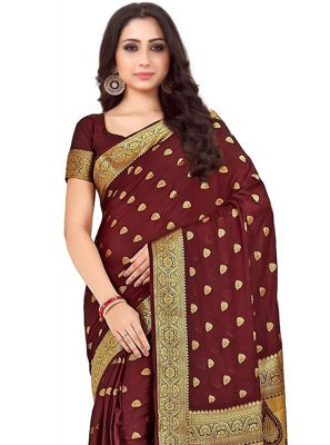 Maroon Reception Designer Traditional Saree