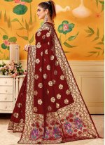 Maroon Silk Trendy Saree