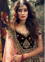 Maroon Stone Bridal Trendy Lehenga Choli